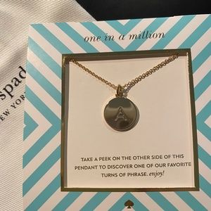 """Kate Spade """"One In a Million"""" Necklace  Letter """"A"""""""